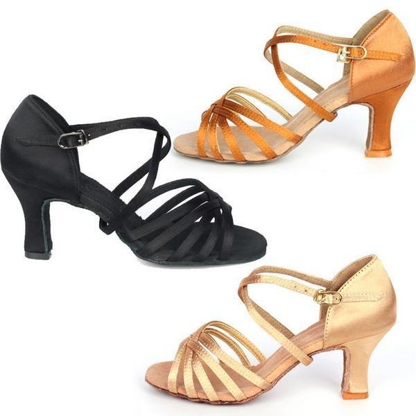 acfc0a3499 Hot Sale 7cm High Heel Adult Female Latin Modern Ballroom Dancing Shoes  J4344