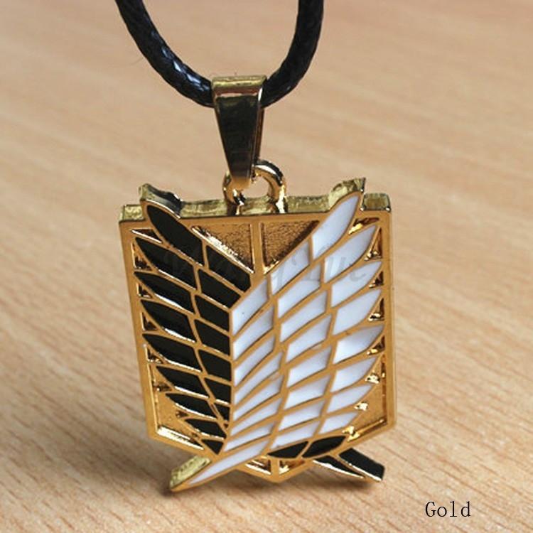 Anime ATTACK ON TITAN Scouting Legion Badge Pendant Bracelet Cosplay Gift