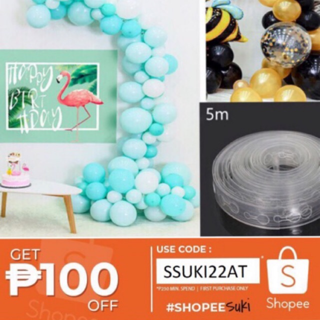 ✔️ Balloon Chain 5m Party Wall Decoration