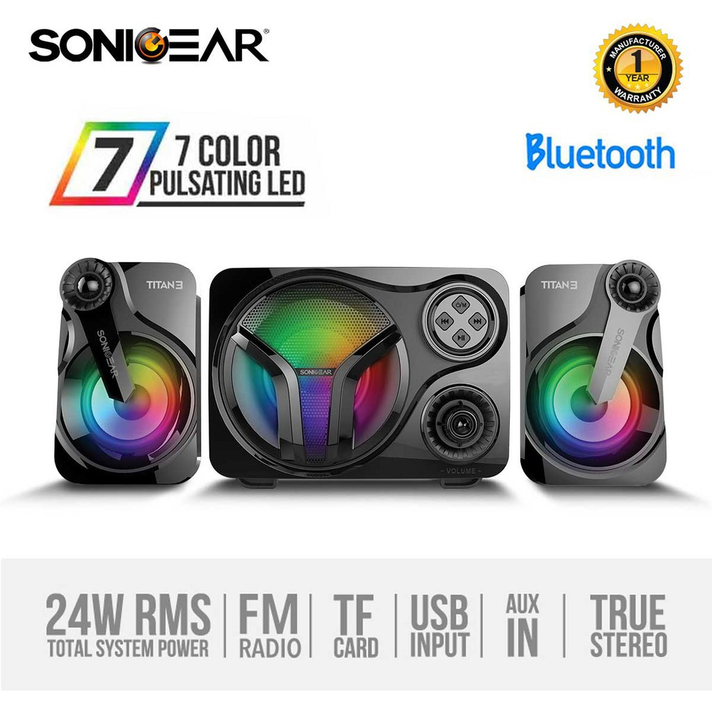 SonicGear Titan 3 BTMI USB Bluetooth Portable Music Synchronized ...