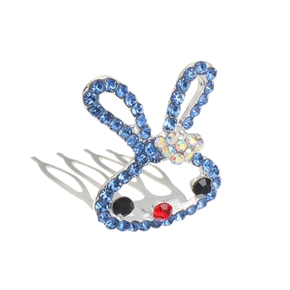 Girl Princess Crystal Party Hairpin Children/'s Headwear Crown Comb Rabbit