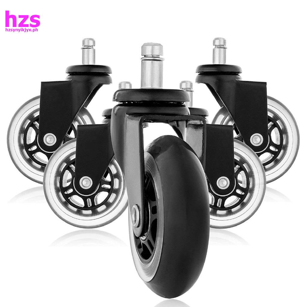 Picture of: Replacement Wheels Office Chair Caster Wheels For Your Desk Chair Quiet Rolling Casters Perfect For Hardwood Floors Carpet Laminate And Tile Set Of 5 Shopee Philippines