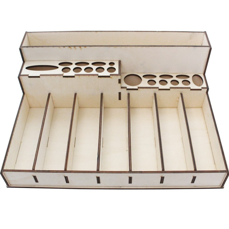 Sewing Diy Material Embroidery Tool Storage Box Wood Manual Diy Small Assembly Storage Finishing Too