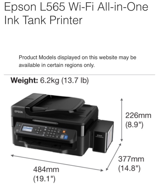 EPSON L565 Printer | Shopee Philippines