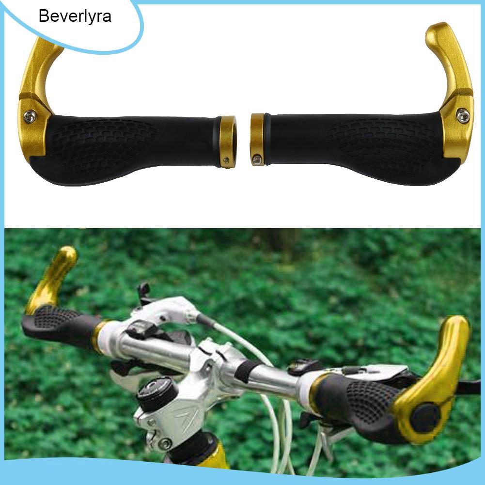 MTB Bike Lock-on Handlebar Grips Rubber Aluminum Barend Bar End Handlebar Cover