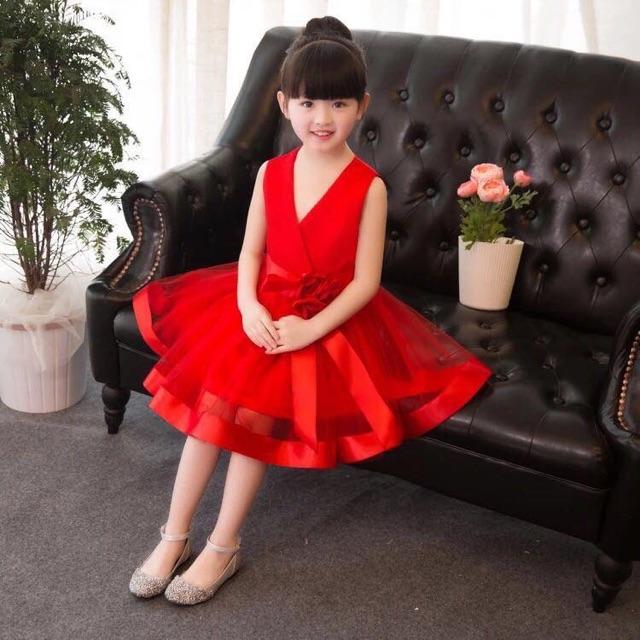 Elegant Red dress for kids | Shopee Philippines
