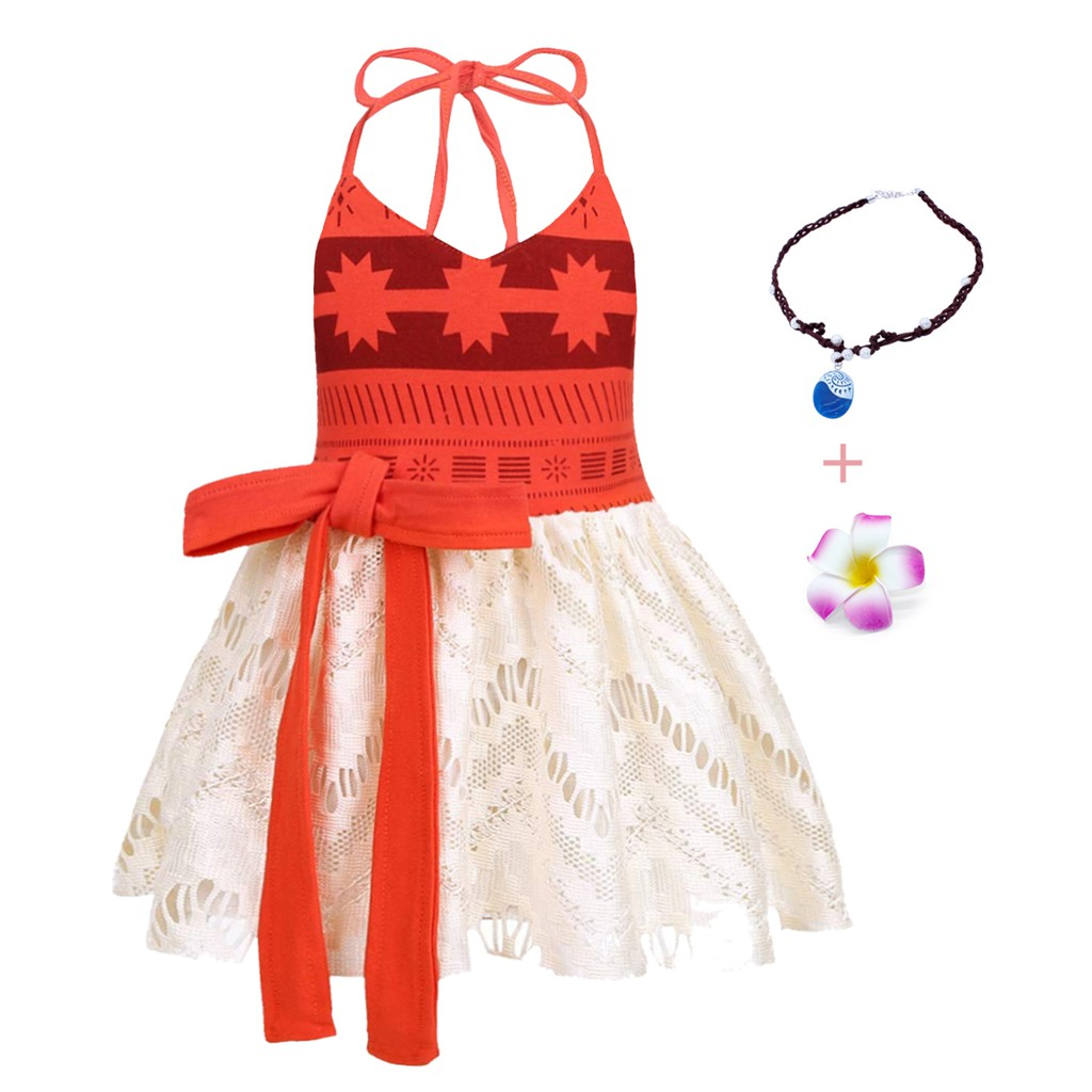 Baby Toddler Girls Princess Moana Backless Dress Party Fancy Costume Tutu Outfit