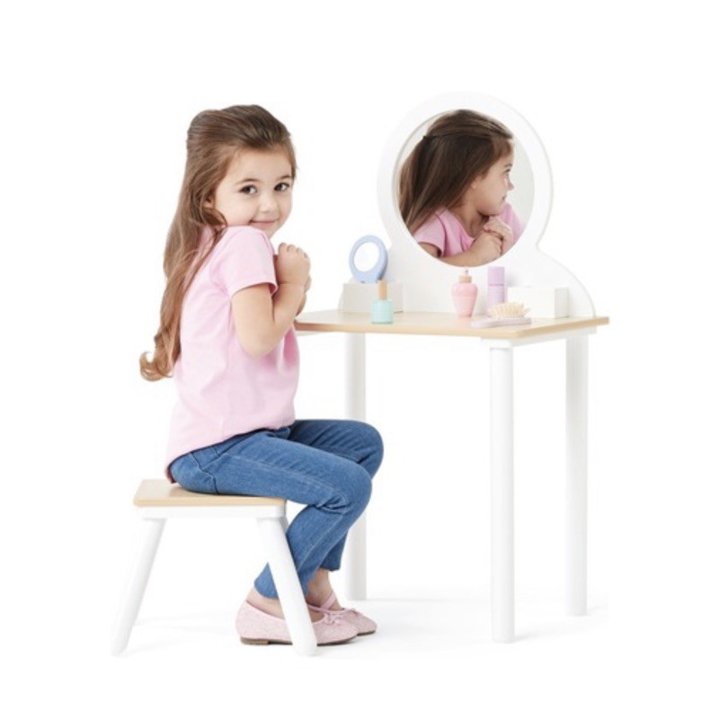Kmart Anko Wooden Vanity Set With Stool Pretend Toy Shopee Philippines