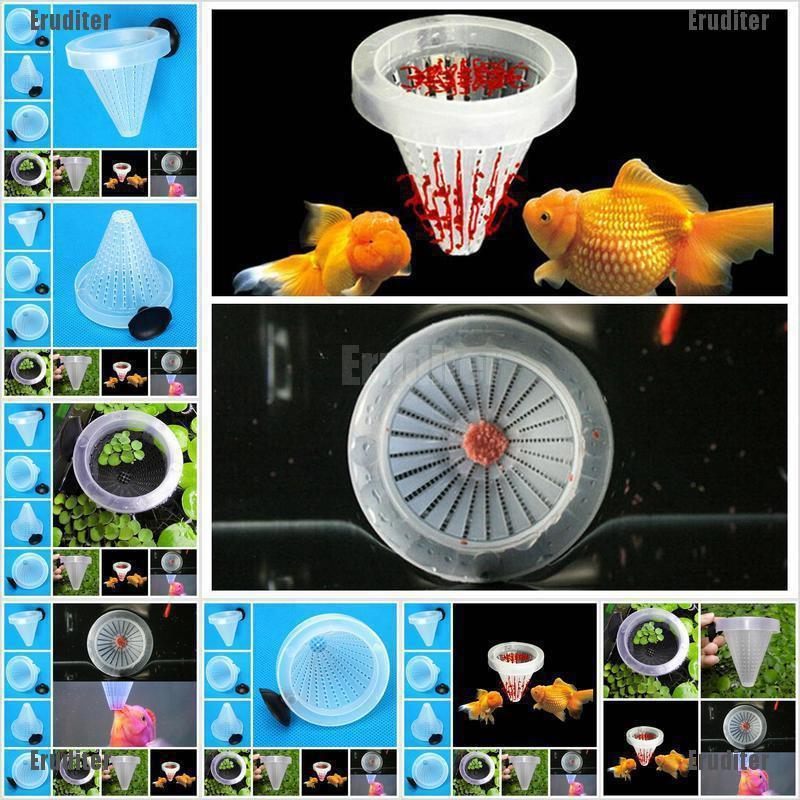 New Aquarium Basket Feeder Fish Food Live Worm Bloodworm Cone Feed Tool L^