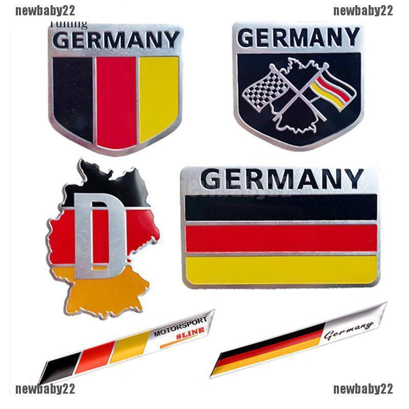 1 Pair of U.S.A Flag Al Alloy Fender Sticker Badge Emblem Design Car America 4