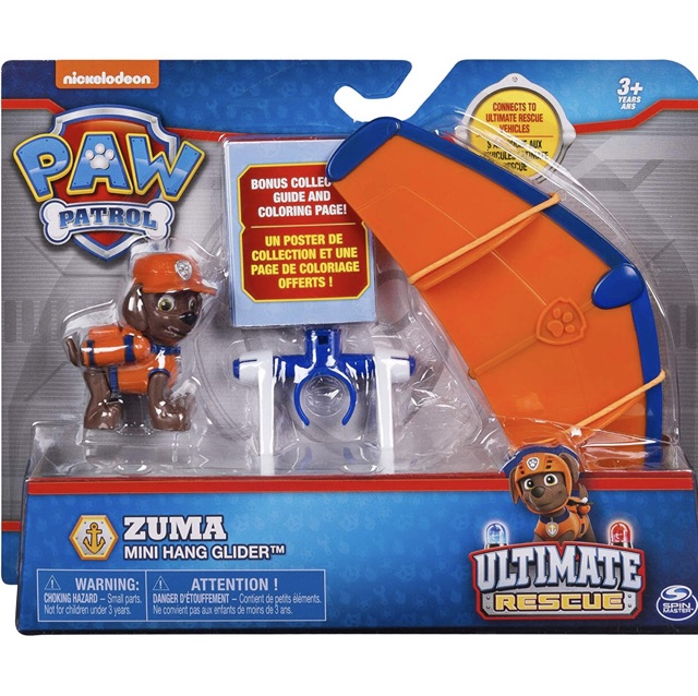 Paw Patrol Zuma S Mini Hang Glider With Collectible Figure