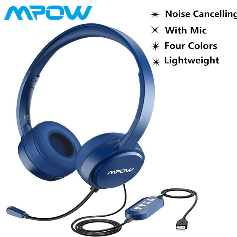 79ed3830fa6 Mpow 071 PC Headset W/Mic Noise Cancelling Wired Headphone | Shopee  Philippines