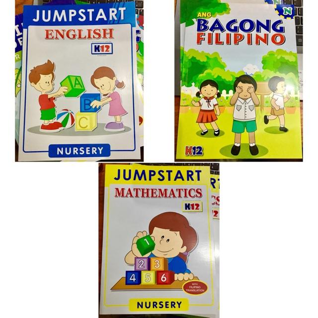 (NURSERY WORKBOOKS) Filipino, English & Mathematics