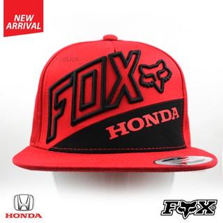 ddfa778ecaa0a0 Fox-Honda Snapback Sports Flat Bill Cap - Red | Shopee Philippines