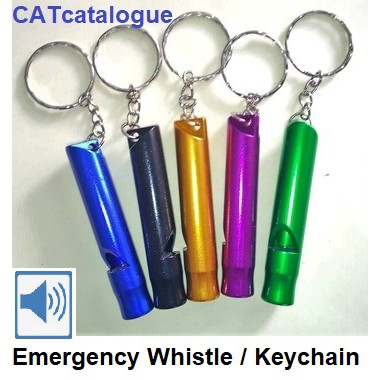 Large Size Multi color Emergency Survival Whistle with Key chain Pack 12 pcs