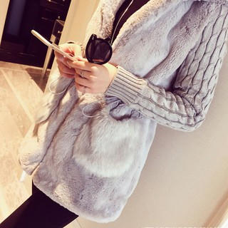 Lataw Womens Coat Ladies Fashion Jacket Long Pullover Winter Warm Faux Leather Hooded Loose Overcoat Outwear Clothes