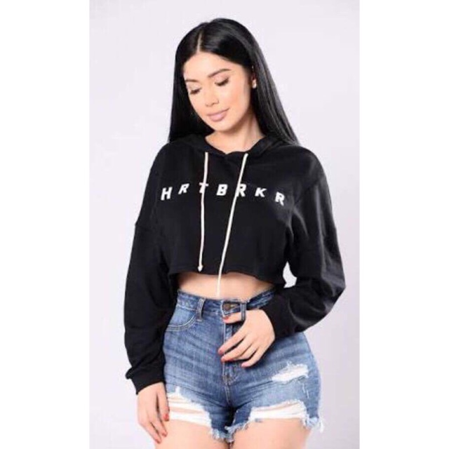 822d91e9c4e Women Short Hoodies Long Sleeve Girl Pullover Sexy Crop Top | Shopee  Philippines