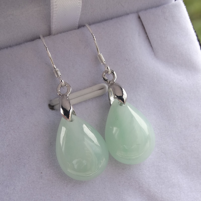 Burmese Jade Drop earrings
