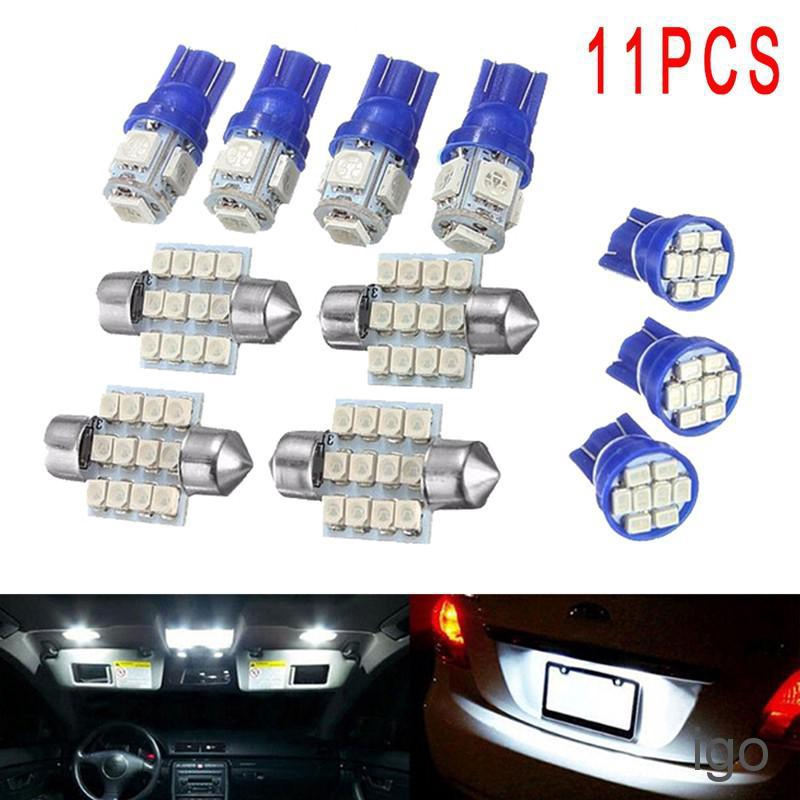 10PCS White LED Interior Package Kit for T10 /& 31mm Map Dome License Plate Light