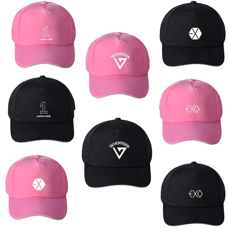 4b898f208d8fbe KPOP Wanna One EXO SEVENTEEN Baseball Cap Men Women Hats   Shopee  Philippines