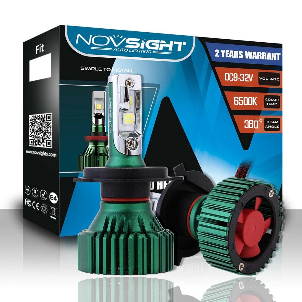 NOVSIGHT 9006 HB4 LED Headlight Light Bulbs White 60W 16000LM CREE XHP50 Chip