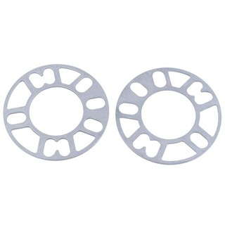 For Car Vehicle 4 and 5 hole Wheels 3mm Thickness Wheel Rims Spacers Silver  Tone