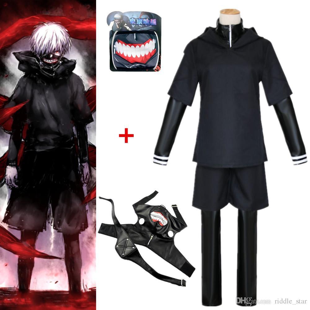 sale retailer 533a3 7acbd Kaneki Tokyo Ghoul Anime Cosplay Costume