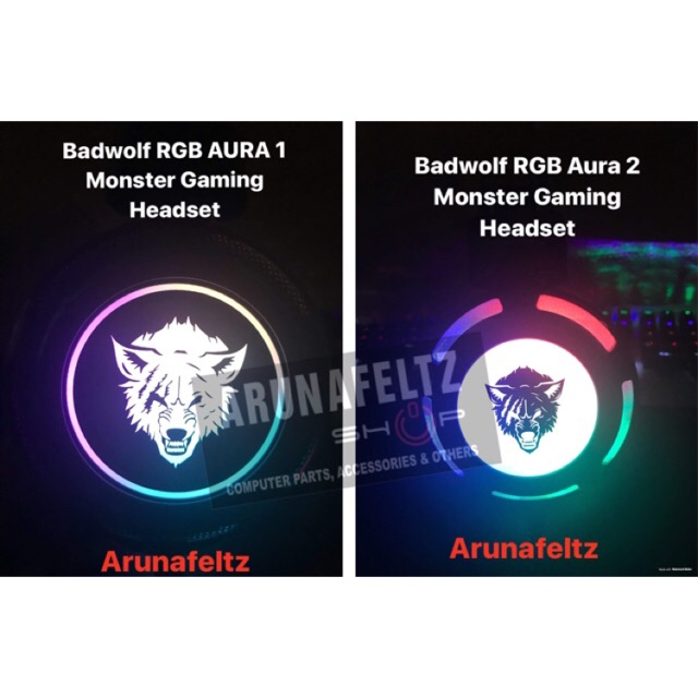 RGB Aura Monster Gaming Headset (Badwolf)