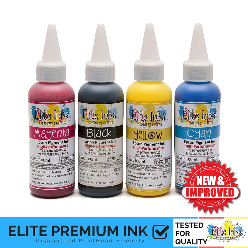Elite Premium Japan Pigment Ink for Epson 100ml (Non-Fade)