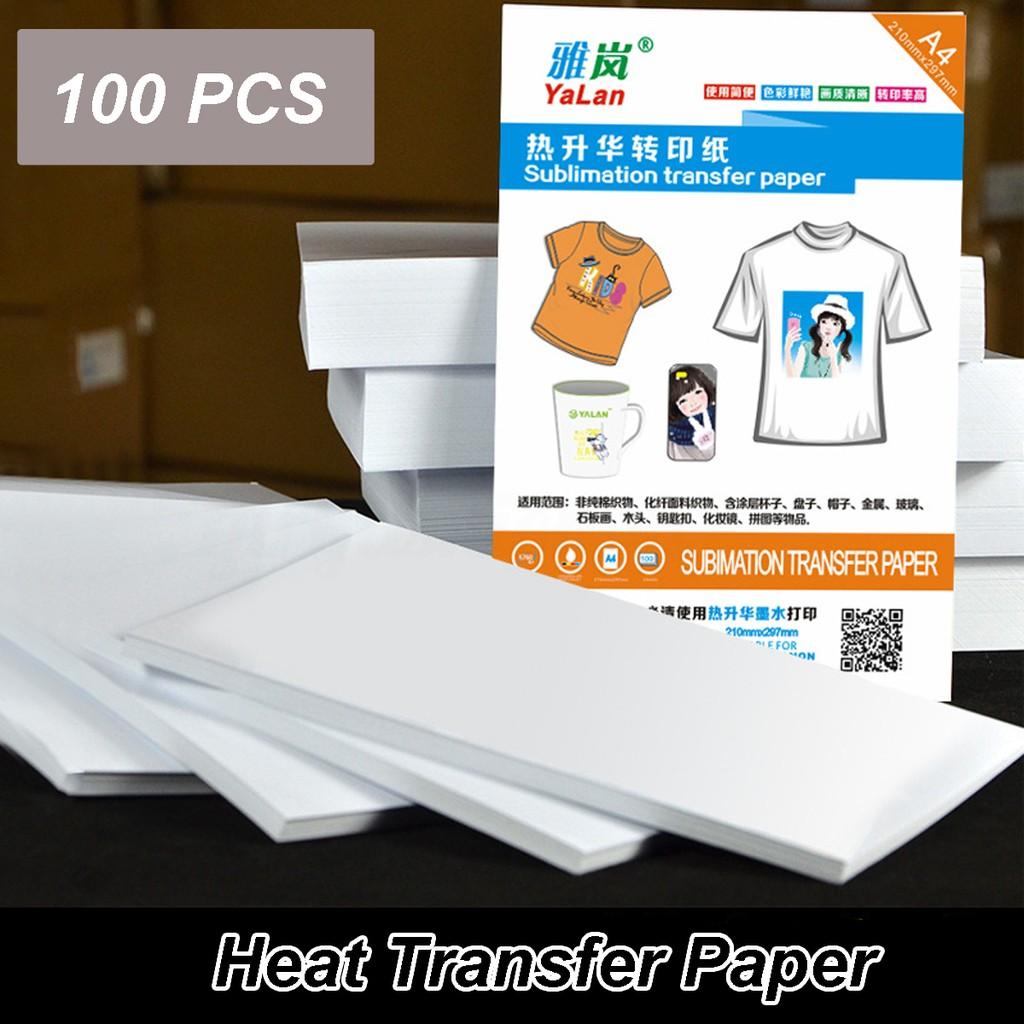 df62168f0 100PCS A4 Heat Transfer Paper Light T-Shirt Inkjet-Printer | Shopee  Philippines