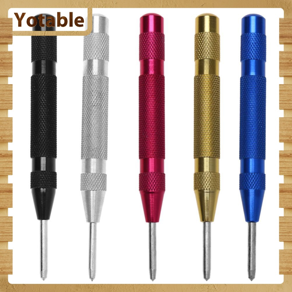 Automatic Centre Punch Steel Spring Loaded Marking Starting Holes Hand Tool