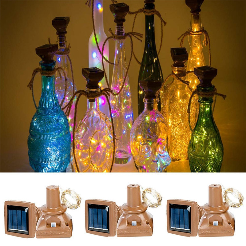 1M LED Cork Wine Bottle Wire Copper String Fairy Light Wedding Party Xmas Lamp