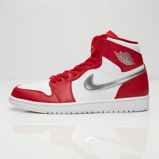bcf764df62e97c ... Men s Activewear Sports Shoes Nike Air Jordan 1 Retro High Gym Red  White Silver 332550 602. like  5