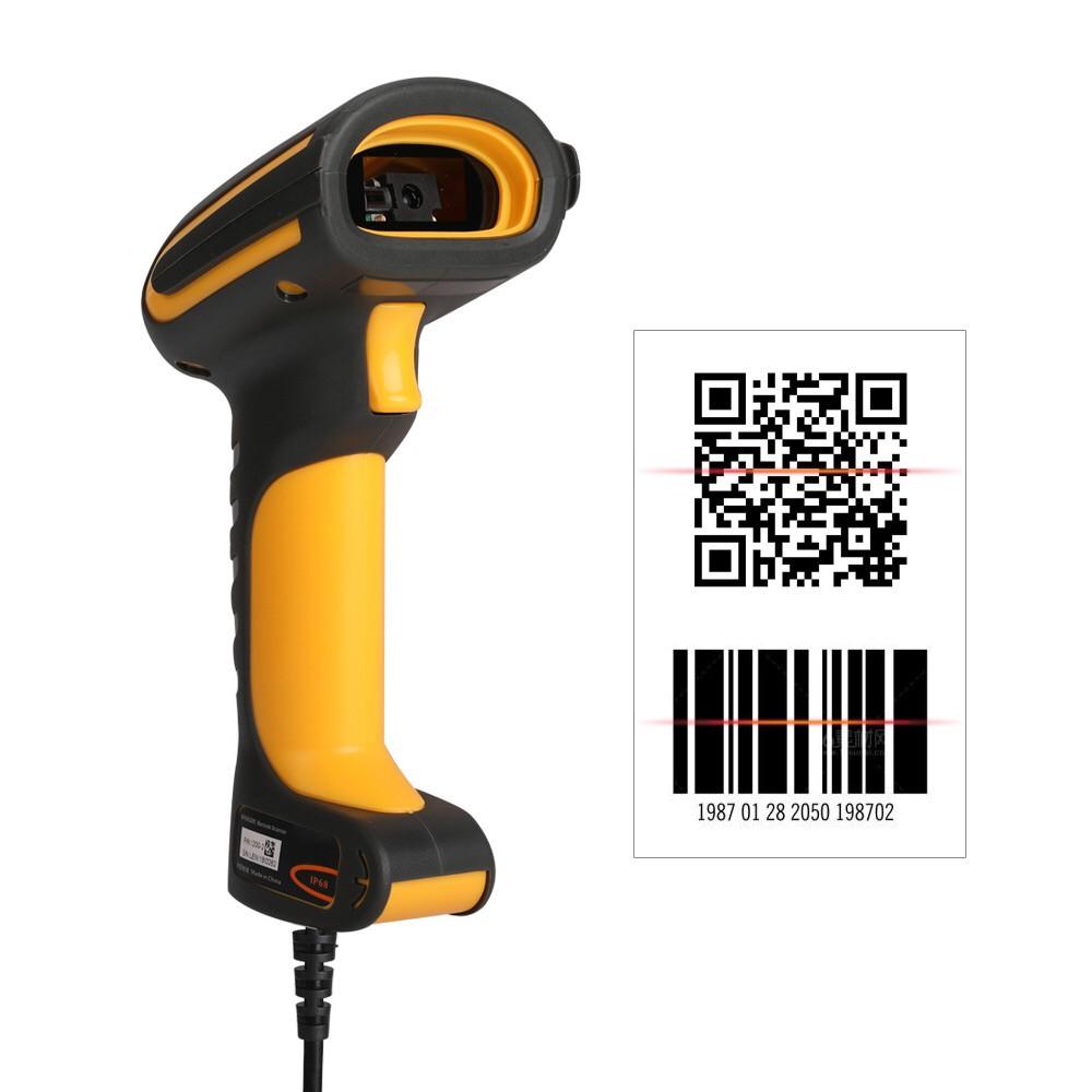 LENVII I200 2D WaterProof Industrial barcode scanner