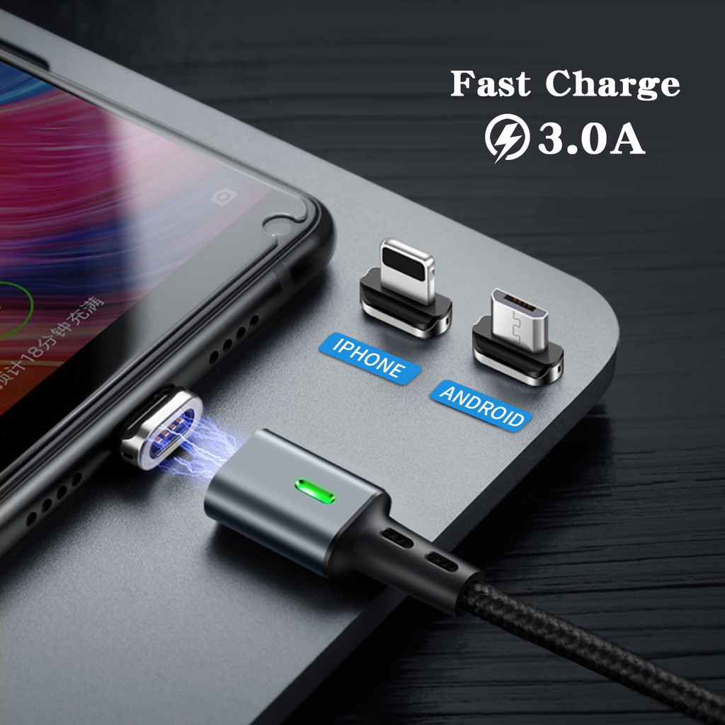 Fast Magnetic Charger Cable USB/Android/Type C/iPhone Charger Cable