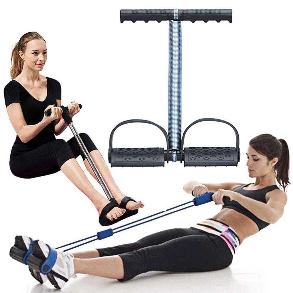 Elastic Sit Up Pull Rope Spring Tension Foot Pedal Abdomen Leg Exerciser Tummy