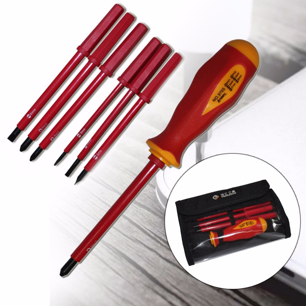 7Pcs Insulated Electrical Screwdriver Set 1000V CR-V Phillips Slotted Hand Tool