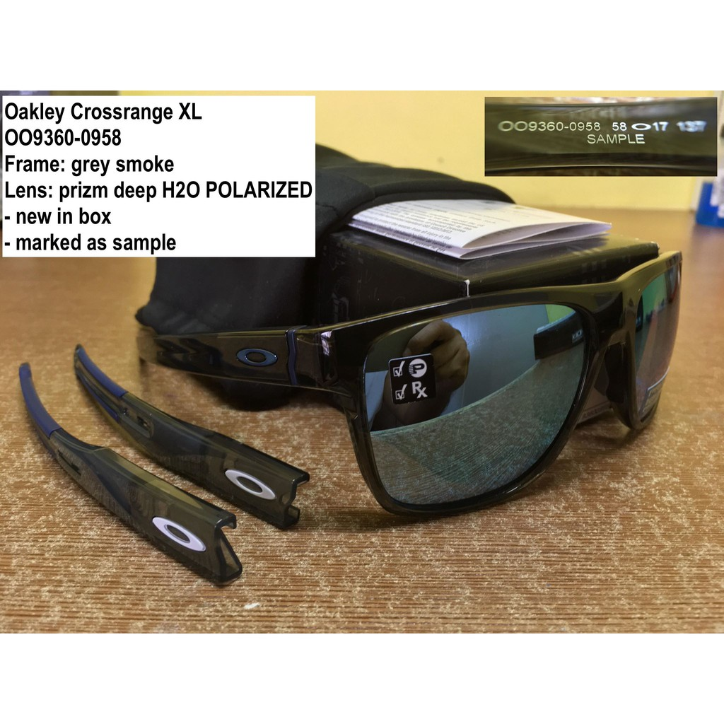 0191cc22508bd Oakley Sunglass Crossrange 9361-01 Polished Black w  Grey