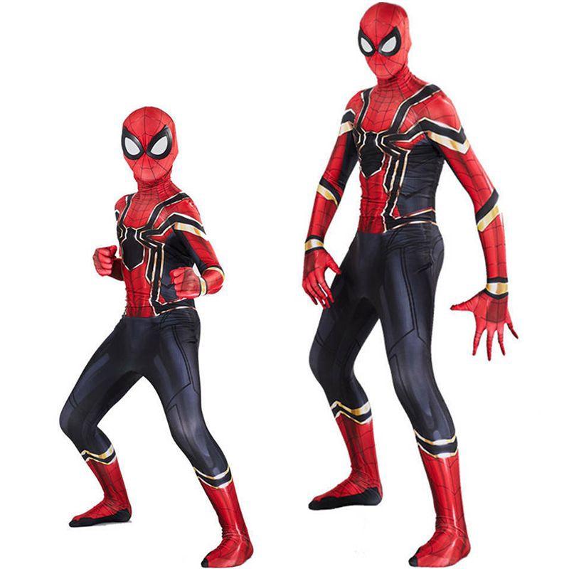 Spider-Man Homecoming Spiderman Suit Superhero Costume Cosplay Jumpsuit Overalls