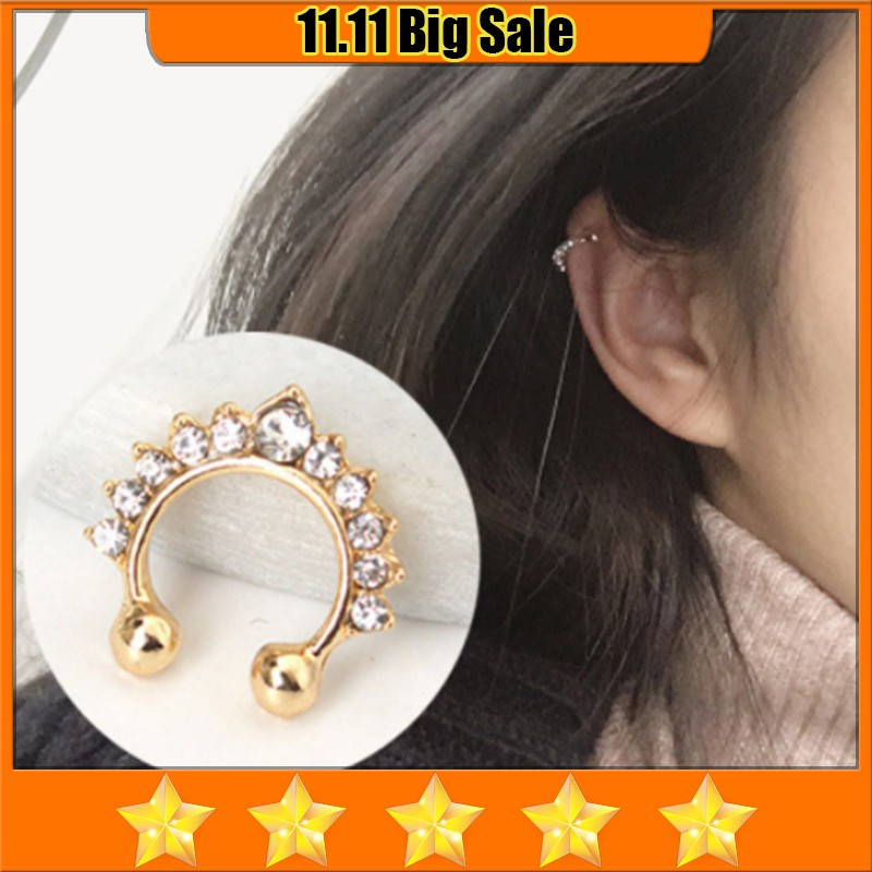 Bingo Crown diamond U-shaped ear clip91298