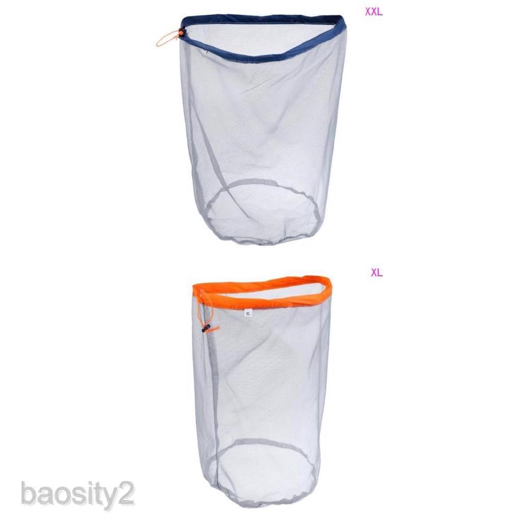 XL//XXL Travel Camping Ultra-light Mesh Stuff Sack Drawstring Storage Bag