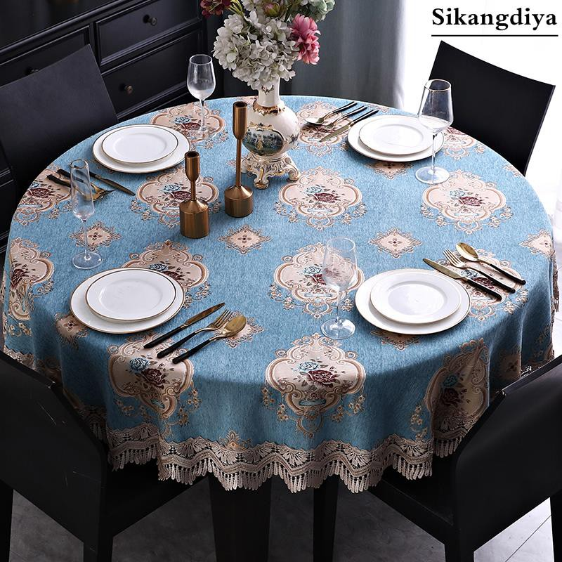 Featured European Style Round Dining Table Tablecloth Round Table Garden Table Round Coffee Table T Shopee Philippines