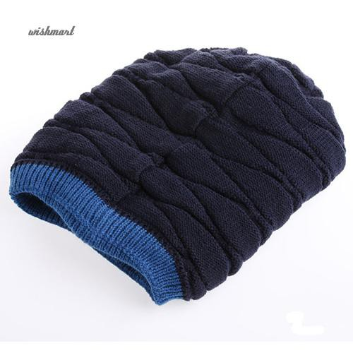 aff5677fa7e ☀WISH Men s Fashion Knit Crochet Baggy Beanie Hat Winter Warm Cap for  Outdoor Riding