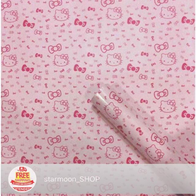 Hello Kitty  Adhesive Wallpaper Shopee Philippines