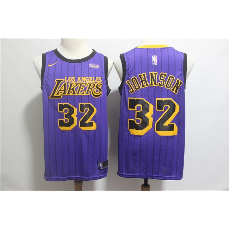 582c102f7c8 ProductImage. zhaoyin Nike Earvin Johnson  32 Los Angeles Lakers NBA ...