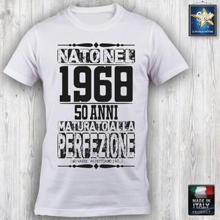 T Shirt 50 Anni Uomo Compleanno 1968 Festa Simpatica Divertente Idea Regalo