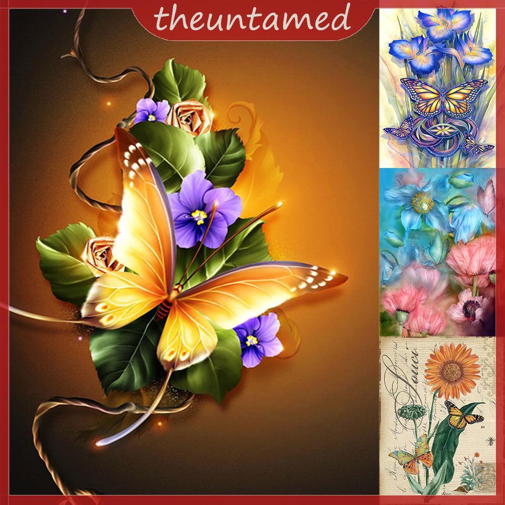 DIY 5D Diamond  Retro Flower  Painting Embroidery Home Decor Craft #cz