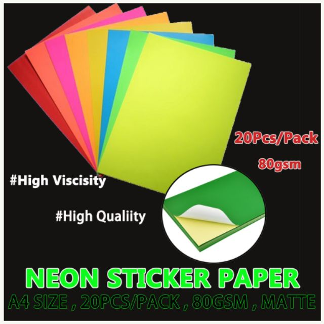 50pcs) Printable Sticker Paper Matte & Glossy A4 105gsm for