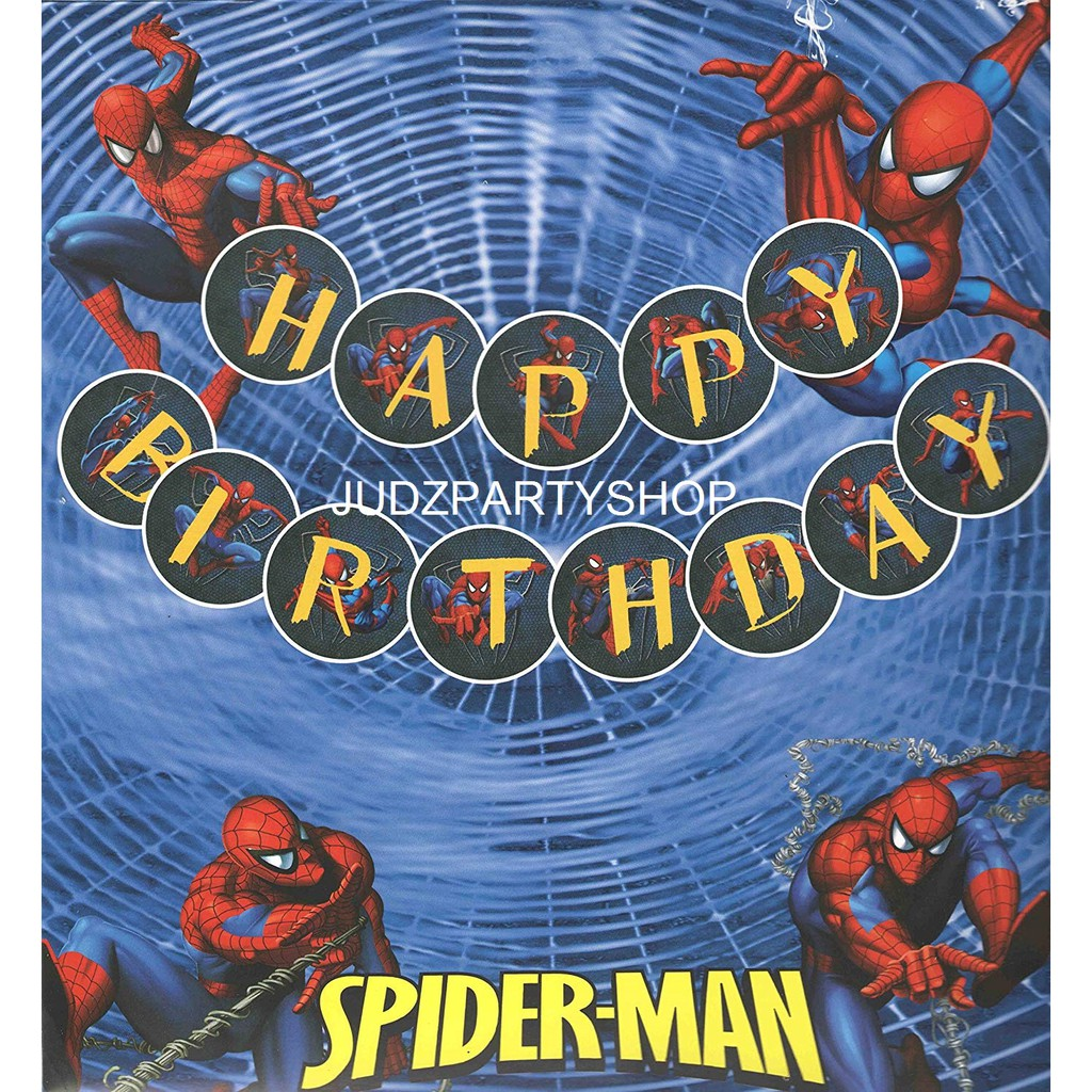 MARVEL SPIDERMAN HAPPY BIRTHDAY BANNER 12 FEET LONG by Spider-Man Spider Man