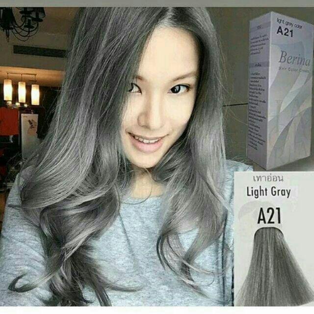 Berina A21 Light Gray Hair Color Cream | Shopee Philippines Idea